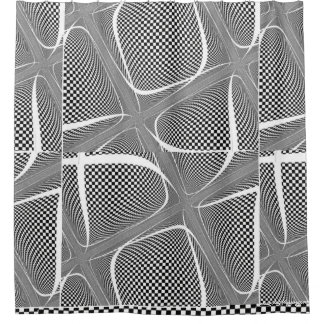 Black and White Chequered Swirl