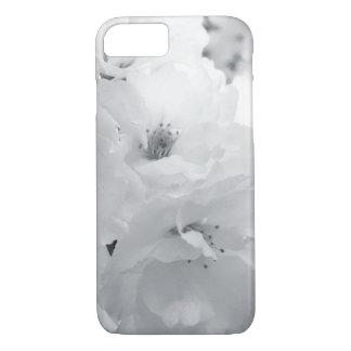 Black and white cherry blossom sakura flowers iPhone 7 case