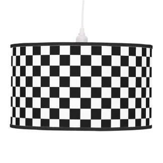 Black and White Chess Board Pendant Lamp