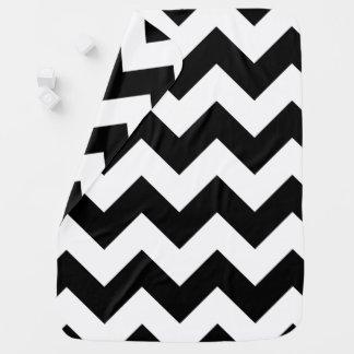 Black and White Chevron Baby Blanket