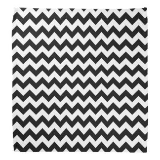 Black and White Chevron Bandana. Bandana
