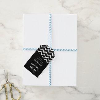 Black and white Chevron Bridal Shower Wedding Gift Tags