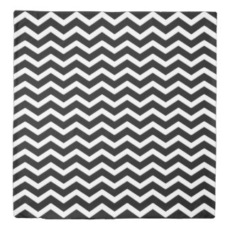 Black and White Chevron Duvet Cover Queen
