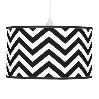 Black and White Chevron Lamp