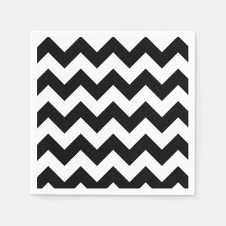 Black and White Chevron Paper Napkin