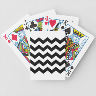 Black and White Chevron Pattern Bicycle Playing Cards