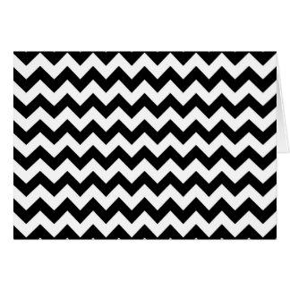 Black and white chevron pattern card