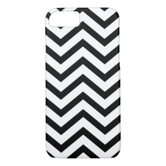 Black and white chevron pattern case for iPhone 7