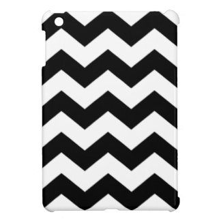 Black and White Chevron Pattern Cover For The iPad Mini