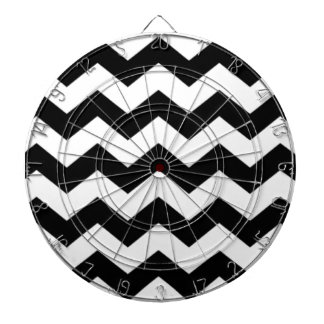 Black and White Chevron Pattern Dartboard