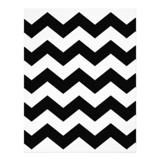 Black and White Chevron Pattern Letterhead