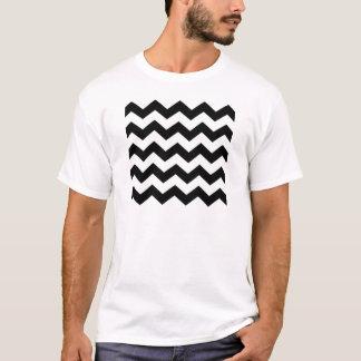 Black and White Chevron Pattern T-Shirt