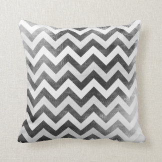 Black and White Chevron pattern zig zag pillow