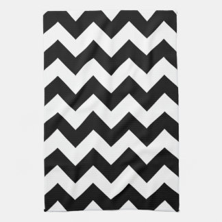Black and White Chevron Print Kitchen Towel