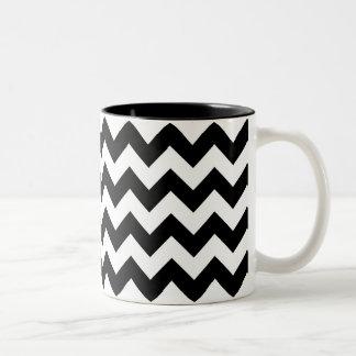 Black and White Chevron Print Mug