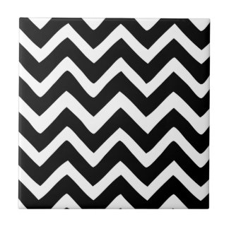Black and White Chevron Tile