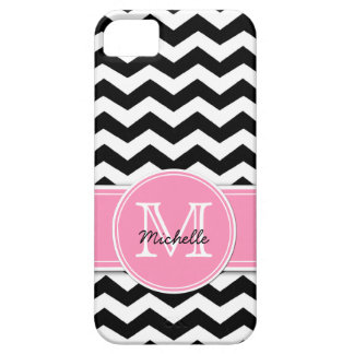 Black and White Chevron with Bubblegum Pink iPhone 5 Covers