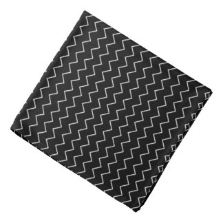 Black And White Chevron Zigzag Pattern Bandana