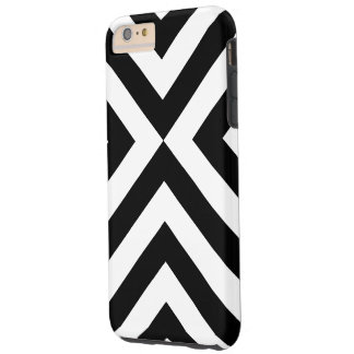 Black and White Chevrons iPhone 6 Plus Tough Case