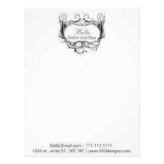 black and white Chic Business letterheads Personalized Letterhead