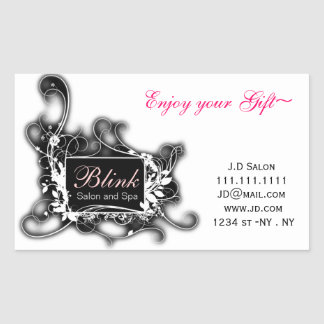 black and white Chic Business stickers
