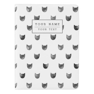 Black and White Chic Cute Cat Pattern Extra Large Moleskine Notebook