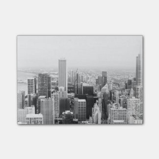 Black and White Chicago Illinois Post-it Notes