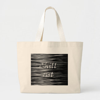 Black and white chill out large tote bag