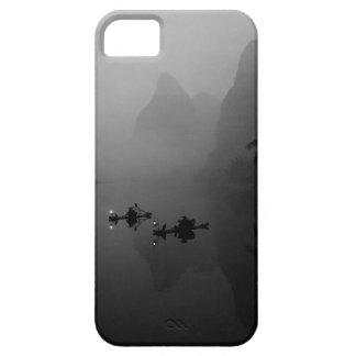 Black and white, China, Li River, Fisherman on iPhone 5 Covers
