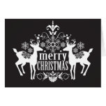 Black and white Christmas design Greeting Card