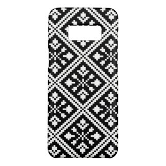 Black and White Christmas Snowflakes Pattern Case-Mate Samsung Galaxy S8 Case
