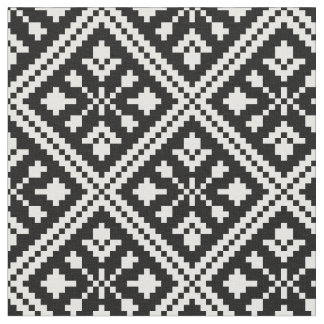 Black and White Christmas Snowflakes Pattern Fabric