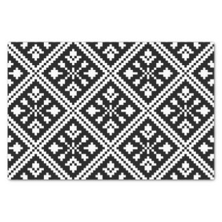 Black and White Christmas Snowflakes Pattern Tissue Paper