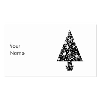 Black and White Christmas Tree Design. Pack Of Standard Business Cards