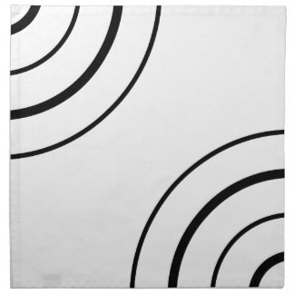 Black and White Circle Design   Minimalist Cloth Napkins