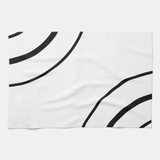 Black and White Circle Design | Minimalist Kitchen Towels