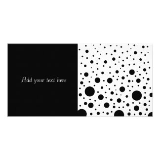 Black and White Circle Design Photo Greeting Card