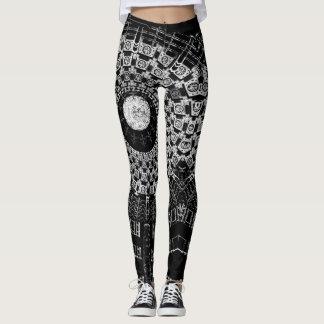 black and white circle leggings