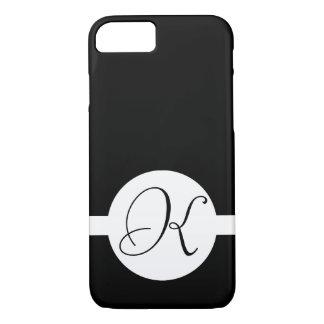 Black and White Circle Monogram iPhone 8/7 Case