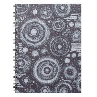Black and White Circles Spiral Notebook
