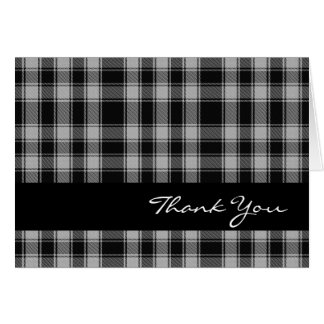 Black and White Clan MacPhee Thank You Card