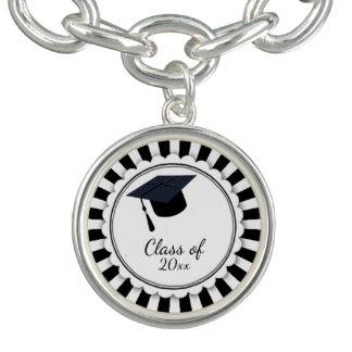 Black and White Class of Graduation Bracelets