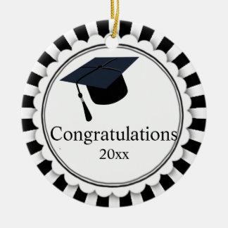 Black and White Class of Graduation Ceramic Ornament