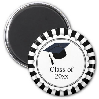 Black and White Class of Graduation Magnet