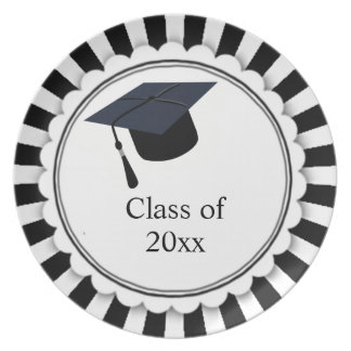 Black and White Class of Graduation Plate