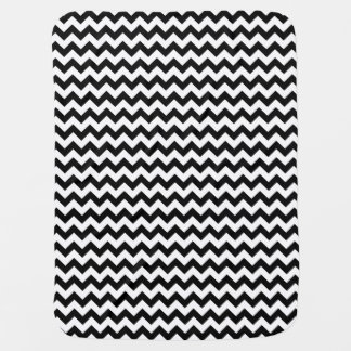 Black and White Classic Bold Chevron Design Baby Blanket