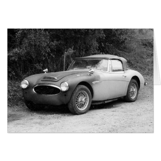 Black and White Classic Car Card-Blank Card