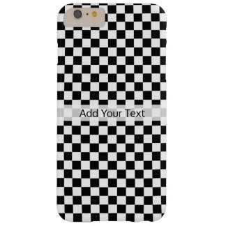 Black and White Classic Checkerboard by STaylor Barely There iPhone 6 Plus Case