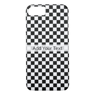 Black and White Classic Checkerboard by STaylor Case-Mate iPhone Case