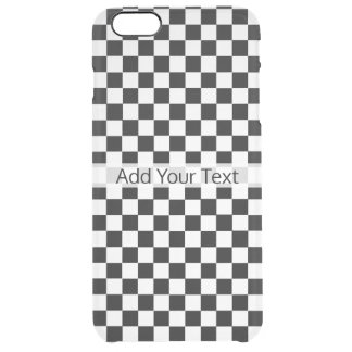 Black and White Classic Checkerboard by STaylor Clear iPhone 6 Plus Case
